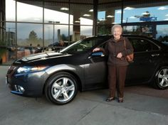 Jim O'Connell's customer, Margaret, looks pretty happy with her new Acura too! #courtesyacuraipadcontest #acura #courtesyacura #Littleton #Colorado #newcars #happycustomers
