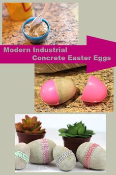 DIY Modern Industrial Concrete Easter Eggs