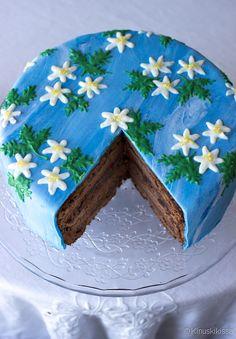 Daimin ystävän suklaakakku | Reseptit | Kinuskikissa Cake, Countryside, Desserts, Foods, Snacks, Kuchen, Tailgate Desserts, Food Food, Deserts