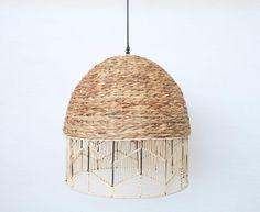 Woven Hang Lamp – Unique Wood