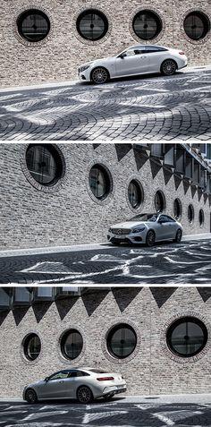 Urban adventures with the Mercedes-Benz E-Coupé. Photo by Johannes Glöggler (www.johannesgloeggler.de) for #MBsocialcar