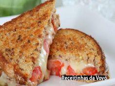 Receita Sanduíche quente de tomate