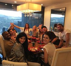Party time with CJ:Caitlyn Jenner threw a dinner party for her family in an image shared by Khloe Kardashian on Thursday