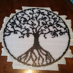 Tree of Life perler beads by kcpopick13 - Pattern: https://de.pinterest.com/pin/374291419013474318/