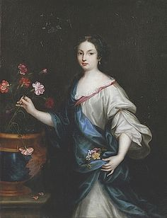 Mademoiselle des Œillets by Pierre Mignard (location unknown to gogm) From the lost gallery