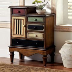 Furniture of America Cerse Vintage Style Multi-colored Chest