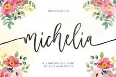 Michelia is a sweet hand-brushed script font with an elegant and varied baseline. It is perfect for delicate projects, wedding... Hand Lettering Fonts, Handwritten Fonts, Monogram Fonts, Wedding Calligraphy, Calligraphy Fonts, Wedding Stationery, Modern Script Font, Elegant Fonts, Commercial Use Fonts