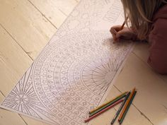 Rainbow Colouring Poster