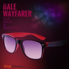 Grab This Trendy #Wayfarer #Sunglasses For The Bold & Beautiful Boys & Girls Only At http://www.shopglasses.co.in/bale-2/