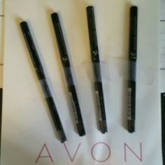 Avon 4 piece collection of GLIMMERSTICKS DIMONDS Set includes 4 EYELINERS  COLORS ARE AS FOLLOWS  2 BLACK ICE 1 BROWN SUGAR 1 MAGENTA ONYX  Free surprise Avon gift with the purchase of this collection.  This set is BRAND NEW UNOPENED Avon Makeup Eyeliner
