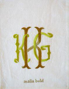 Malia Bold Monogram