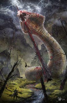 Final Fantasy VII - The impaled Midgar Zolom by RobinTran.deviantart.com on @DeviantArt
