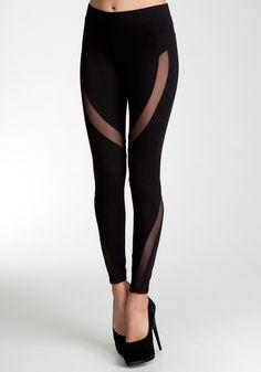 cut out lace leggings (bebe)