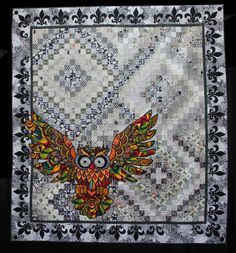 Jerry`s Owl by Peggy Phelps.  Judge's Award.  2014 Queensland Quilters show (Australia)
