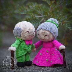 Alice & Michael Old Wedding Couple Amigurumi Pattern by saplanetamigurumi on Etsy