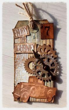 Texture Tag for A Vintage Journey - Tim Holtz