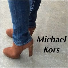 Michael Kors Booties Luggage color suede michael Kors Botties. With gold hardware. Brand new. Michael Kors Shoes Ankle Boots & Booties