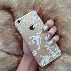 Imagem de iphone, nails, and case
