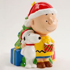 Peanuts Charlie Brown 12-Inch Christmas Cookie Jar with Lid « Blast Groceries                                                                                                                                                                                 More