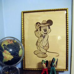 Vintage Mickey Mouse poster $49