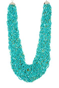 Braided Turquoise Bead Necklace by Pop Of Color: Bold Jewelry Shop on @HauteLook