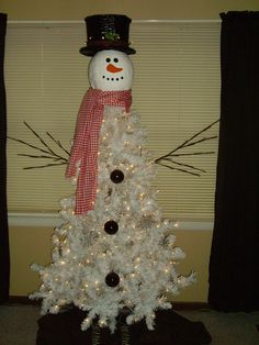 This is my versiion of the snowman christmas tree