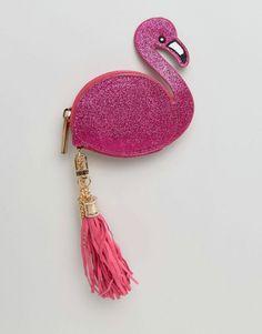 Monedero con diseño de flamenco y borla de Skinnydip