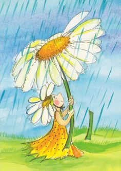 Sunflower Umbrellas by floquilter, via Flickr