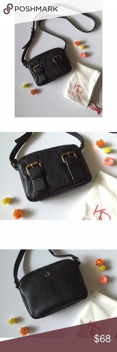 """Kelsi Dagger Double Buckle Leather Mini Crossbody Perfect mini bag! 