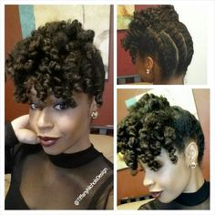 flat twist updo for summer protective natural hairstyle 2016