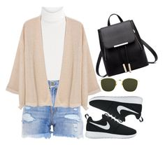 """Untitled #21"" by alyaafdlh ❤ liked on Polyvore featuring Diane Von Furstenberg, R13, MANGO, NIKE and Linda Farrow"