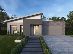 Find new home designs in VIC. Refine the search and discover the best house designs & floor plans for your dream home. Beautiful Small Homes, Beautiful House Plans, Modern House Plans, House Main Gates Design, House Front Design, Flat Roof House, Facade House, New Home Designs, Cool House Designs