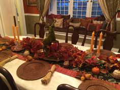 House of Gall fall autumn dining room table 2015
