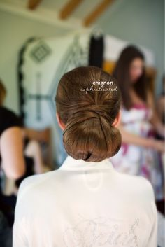 Sophisticated chignon.  #bridal #hair #wedding Bridal Hair Round Up  Read more - http://www.stylemepretty.com/new-york-weddings/2013/08/02/bridal-hair-round-up/