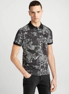 Snake print polo | Just Cavalli | Shop Just Cavalli Designer Clothing for Men Online | Simons