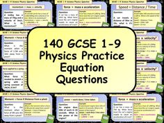 This resource is a set of 140 question slides based around the equations students need to know for the AQA GCSE Physics exam. Gcse Science Revision, Gcse Physics, Exam Revision, Gcse Exams, Physics Questions, Aqa, Practice Exam, Teaching Resources, Stress