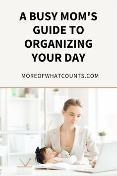 Here are 9 tips that will help busy moms organize their days, so they can stress less and make time for more of what counts. Productivity is all about planning and if you need help figuring out how to organize your day, this helpful guide is for you. Saving Tips, Time Saving, Advice For New Moms, Baby On A Budget, Organized Mom, Home Organization Hacks, Stress Less, Babies First Year, Organize Your Life