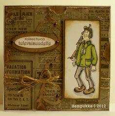 Hunter (Sku#K1198)  from Art Impressions Golden Oldies masculine card