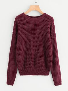 17aca8beda SheIn offers Drop Shoulder Loose Knit Sweater   more to fit your fashionable  needs.