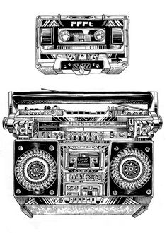 Incredibly detailed line drawing by Ian MacArthur.