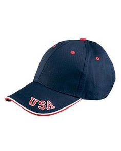 Adams 6-Panel Mid-Profile Cap with USA Embroidery NT102 Caps For Women 7628cdb5062c