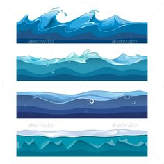 Seamless Ocean, Sea, Water Waves Vector EPS. Download here: https://graphicriver.net/item/seamless-ocean-sea-water-waves-vector/13513761?ref=ksioks