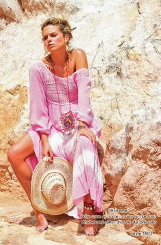 BOHEME crochet and cotton dress Blue Hippy Summer 2015 Collection #boho #gypset #hippy #blue #southoffrance #handprinting #bohemian #vintage #bohochic #bohostyle #boholiving #bohemianstyle #gypsy #hippie #travel #beach #french #france #wanderlust