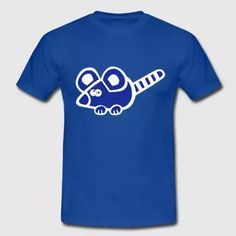 Mäuschen Shirt Maus Ratte Blue - Men's T-Shirt