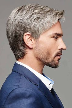 Men Straight Synthetic Hair Lace Front Cap 14 Inches Wigs - All For Bridal Hair Tapered Haircut, Fade Haircut, Synthetic Lace Front Wigs, Synthetic Hair, Low Skin Fade, Monofilament Wigs, Beard Styles, Facial Hair, Haircuts For Men