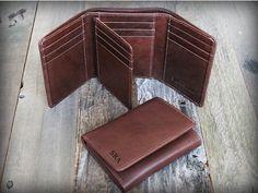 Valentine's Gift for him Trifold Mens Wallet от LeoLoveLeather
