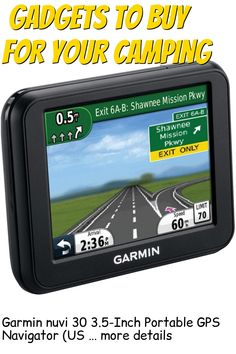 Garmin nuvi 30 3.5-Inch Portable GPS Navigator (US and Canada) (Discontinued by Manufacturer) … (This is an affiliate link) #campinggadgets