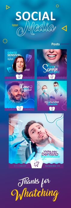 Social media dentist on Behance Social Media Ad, Social Media Branding, Social Media Banner, Social Media Template, Social Media Marketing, Mises En Page Design Graphique, Promo Flyer, Dental Design, Digital Media Marketing