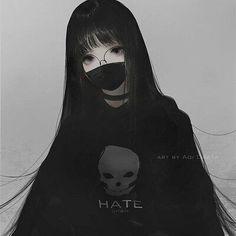 Dark Anime Girl, Manga Girl, Pretty Anime Girl, Manga Anime Girl, Anime Girl Drawings, Anime Neko, Kawaii Anime Girl, Otaku Anime, Anime Guys