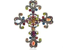 Buy Alilang Cross Antique Inspired Gorgeous Rhinestones Costume Brooch Pendant - Topvintagestyle.com ✓ FREE DELIVERY possible on eligible purchases